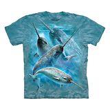 『摩達客』*大尺碼3XL*美國進口【The Mountain】自然純棉系列 獨角鯨設計T恤 (預購)