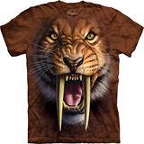 『摩達客』(預購)*大尺碼3XL*美國進口【The Mountain】自然純棉系列 劍齒虎設計T恤