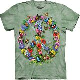 『摩達客』(預購)*大尺碼3XL*美國進口【The Mountain】自然純棉系列 蝴蝶和平設計T恤