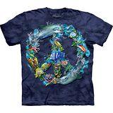 『摩達客』(預購)*大尺碼3XL*美國進口【The Mountain】自然純棉系列 水中和平設計T恤