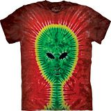 『摩達客』(預購)*大尺碼3XL*美國進口【The Mountain】自然純棉系列 外星人 紮染 設計T恤