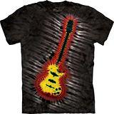 『摩達客』*大尺碼3XL*美國進口【The Mountain】自然純棉系列 電吉他 紮染 設計T恤 (預購)
