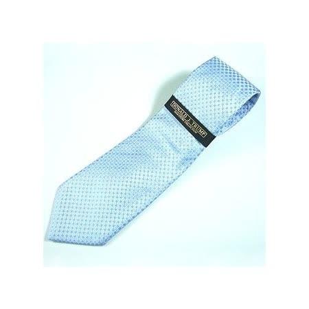 『摩達客』美國進口商務型男必備【Donald J Trump】高級淺藍細圓點領帶