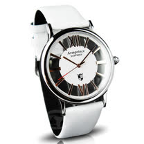 【Arseprince】羅馬假期雙面鏤空時尚男錶-白金