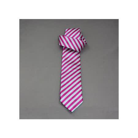 『摩達客』英國進口【Charles Tyrwhitt】高級粉紅斜紋窄版領帶