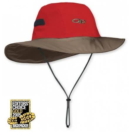 美國 Outdoor Research Gore-Tex Seattle Sombrero 最新大盤帽子.圓盤帽.登山牛仔帽/防水透氣.吸濕排汗(暗紅) OR82130