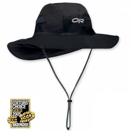 【美國 Outdoor Research】Gore-Tex Seattle Sombrero 防水防風大盤帽子.圓盤帽.登山牛仔帽/防水透氣.防曬.吸濕排汗(黑) OR82130