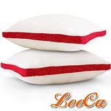 【LooCa】時尚版-透氣超釋壓獨立筒枕2入(共3色)