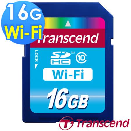【Transcend 創見】WIFI 16GB SDHC Class10 無線傳輸記憶卡-送創見原廠讀卡機