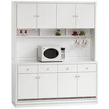 HAPPYHOME 詠佳5.3尺水鑽碗盤櫃組可選色(403-1)