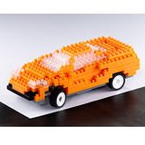 UTICO智慧手機搖控積木車(超級跑車-GT橙)