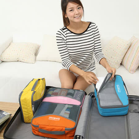 【iSFun】旅行整理*透視網大號收納袋/四色可選