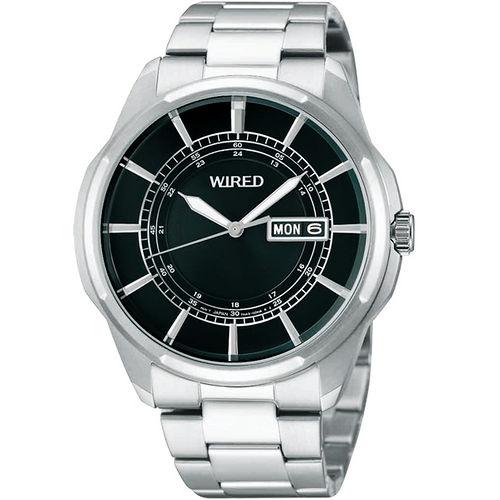WIRED New Standard 原創 風格腕錶~黑銀 7N43~X004D