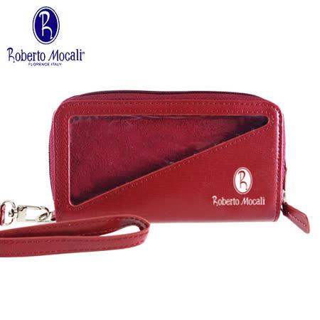 義大利Roberto Mocali手機袋/雙拉鋉手拿包(RM-8109R-1)