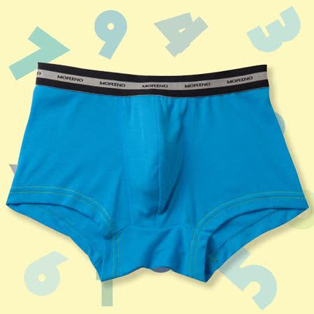 【MORINO】SGS認證抗菌防臭速乾平口褲(男童)-水藍-4件組