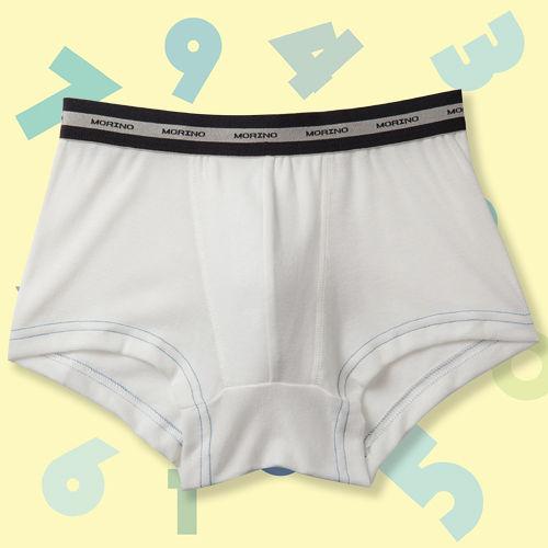 【MORINO】SGS認證抗菌防臭速乾平口褲(男童)-白色-4件組