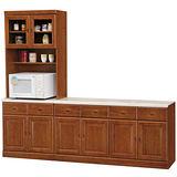 HAPPYHOME 長榮8尺L型樟木石面餐櫃組(415-3)