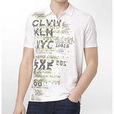 【CK】2013時尚合身紐約風白色短袖POLO衫【預購】