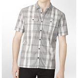 【CK】2013時尚合身灰格子雙口短袖扣襯衫【預購】