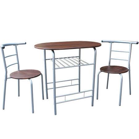 高級鋼管-洽談桌椅組/會客桌椅組/餐桌椅組(1桌2椅)-二色可選