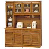 HAPPYHOME 施勝發5.3尺樟木色碗櫥櫃組(425-1)