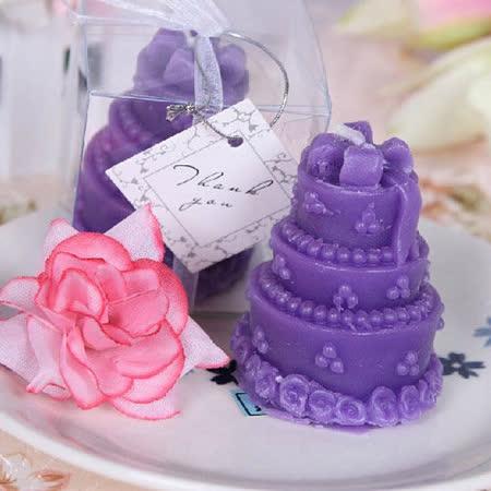 【PS Mall】歐美婚禮小物 創意香薰蛋糕造型蠟燭_2個 (J2130)