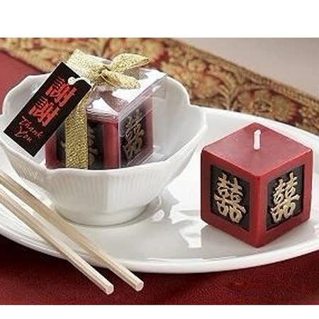 【PS Mall】歐美婚禮小物 創意雙喜造型蠟燭_2個 (J2133)