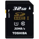 TOSHIBA 32GB SDHC UHS-1 C10 30MB/s高速黑卡(公司貨) - 加送萬用保護貼