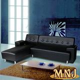 【MNJ】晶欣水晶拉扣獨立筒沙發256cm(4色可選)