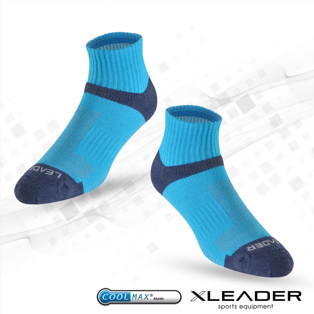 【LEADER】COOLMAX除臭機能運動襪 男款 (寶藍)