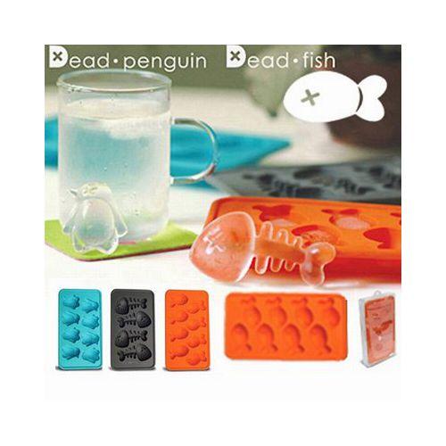 ~iSFun~魚骨化石~矽膠模型製冰盒 色
