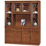 HAPPYHOME 義昇5.3尺柚木色碗櫥櫃組可選色(431-1)