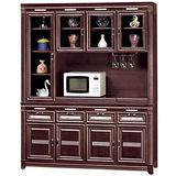HAPPYHOME 現代5.5尺胡桃碗櫥櫃組(433-1)