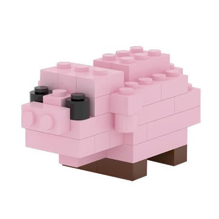 【TICO微型積木任選館】粉紅豬-9521