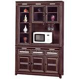 HAPPYHOME 現代4.2尺胡桃碗櫥櫃組(434-3)