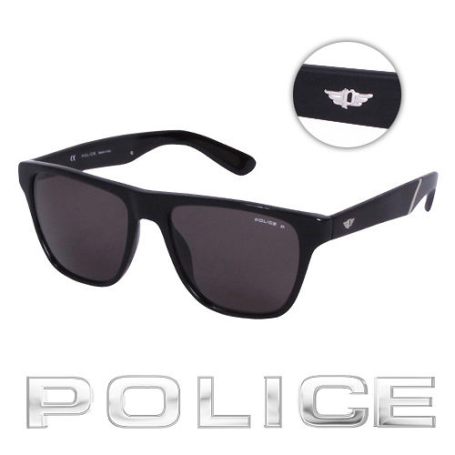 POLICE 都會復古 偏光太陽眼鏡 ^(消光黑^) POS1796~700Z
