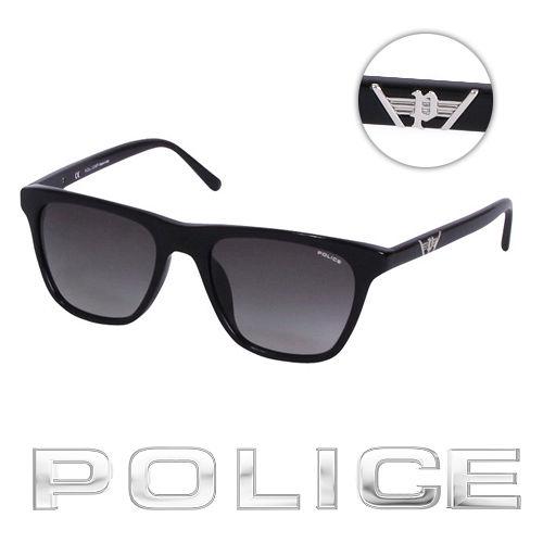 POLICE 都會復古 太陽眼鏡 ^( 黑^) POS1812~0700