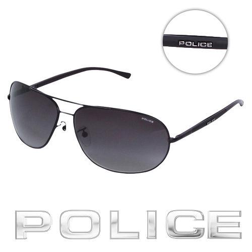 PPPPPOLICE 都會復古飛行員太陽眼鏡 (消光黑) POS8691-0531
