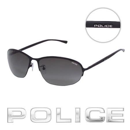 POLICE 都會復古飛行員太陽眼鏡 (消光黑) POS8692-0531