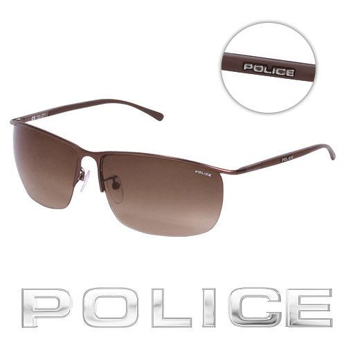 POLICE 都會復古飛行員太陽眼鏡 ^(古銅色^) POS8693~K03K