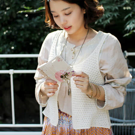 【Happymori】※Mori girl`s Diary※ 高質感側開手機皮套 Galaxy S4 i9500 專用