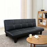 AHOME Kala卡拉方塊皮革舒適沙發床/椅(四色)