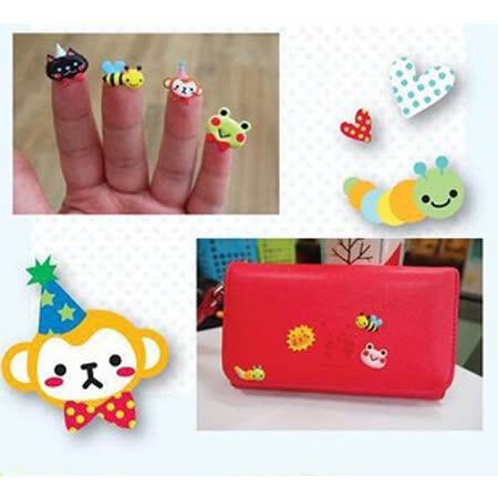 【PS Mall】韓國文具 清新可愛卡通泡泡棉貼紙 手機裝飾貼_2個 (J2200)