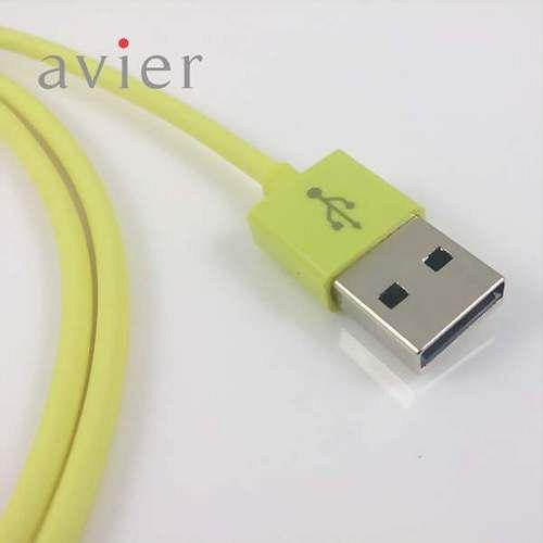 ~avier~USB 2.0 Micro USB 充電傳輸線 15cm ^(芥末綠^)