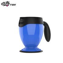 【吸奇不倒杯】桌上型雙層有蓋馬克杯-經典版(藍)