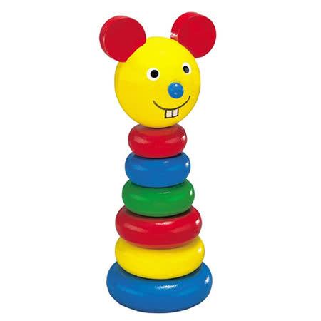 【德國HEROS木製積木】Lucy露西小老鼠疊疊樂 7pcs-73602