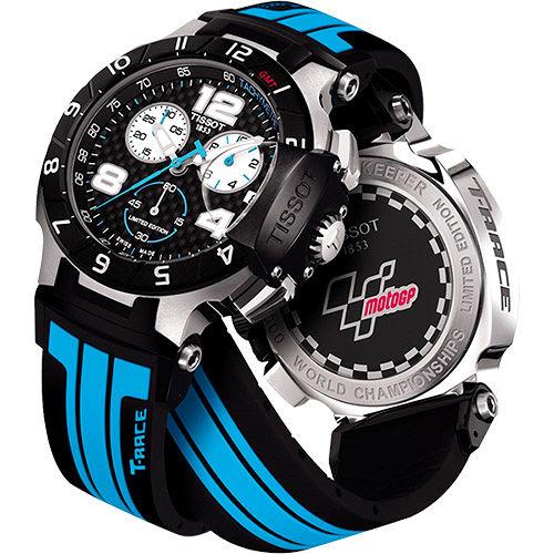TISSOT T~Race MotoGP  賽車計時腕錶~黑x藍 T04841727207