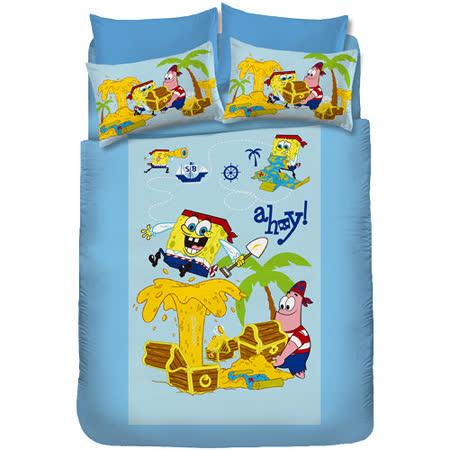 【海綿寶寶】尋寶篇-單人床包組