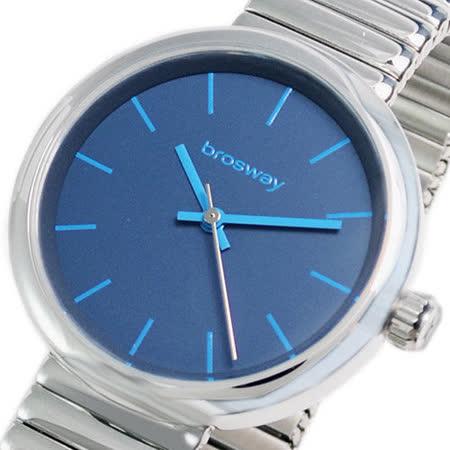 【brosway】Brosway B-Crazy 女錶鋼面鐵鍊帶 藍色