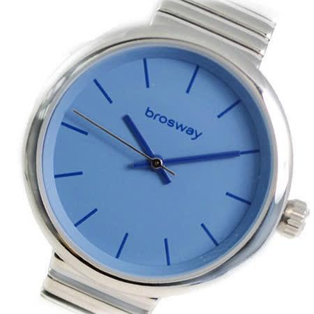 【brosway】Brosway B-Crazy 女錶鋼面鐵鍊帶 淺藍色